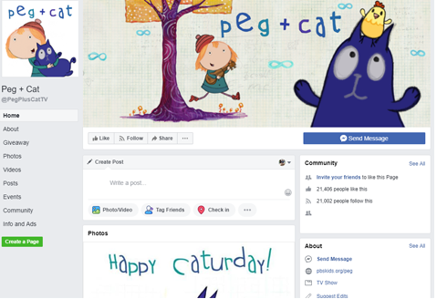 Peg + Cat Facebook